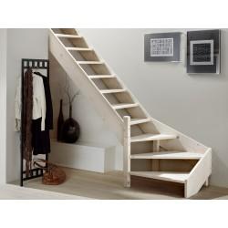 Escalier en bois Savoy: 1/4 tournant [SY5]