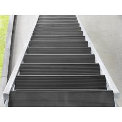 Escalier extérieur Hollywood + rampe d'un côté