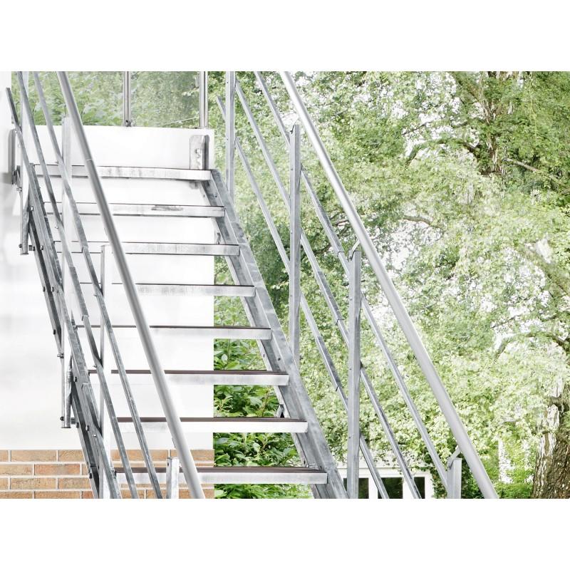 Escalier extérieur Hollywood + rampe sur deux côtés