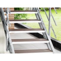 Escalier extérieur Hollywood WPC + rampe sur deux côtés