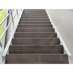 Escalier extérieur Hollywood WPC + rampe d'un côté