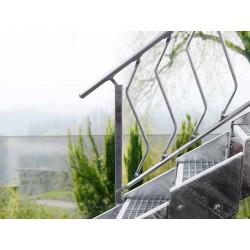 Escalier extérieur Innotec + rampe d'un côté