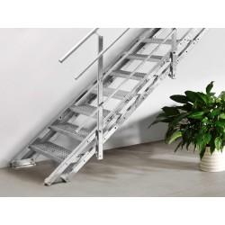 Escalier extérieur Innotec + rampe sur deux côtés