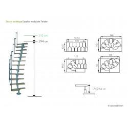 Escalier modulaire Twister