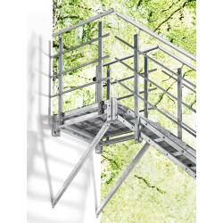 Escalier extérieur Hollywood avec palier et 2 rampes