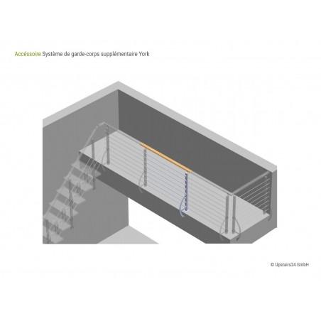 Balustrade Escalier York - Kit d'extension