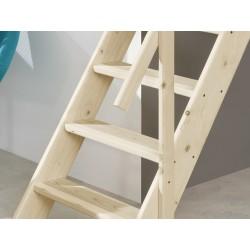 Escalier suspendu Sydney + rampe en acier inoxydable