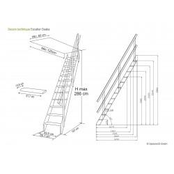 Escalier suspendu Sydney + palier