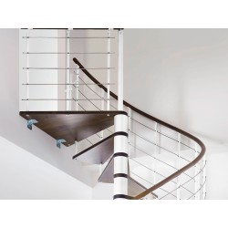 Escalier en bois Casablanca: 1/4 tournant, contremarches [CB6]