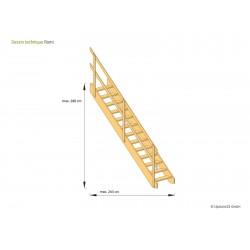 Escalier gain de place Romi