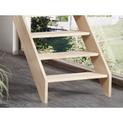 Escalier en bois Savoy: droit, contremarches [SY2]