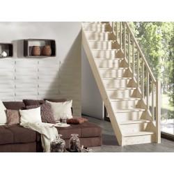 Escalier en bois Savoy: droit, rampe [SY3]