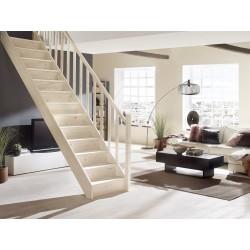 Escalier en bois Casablanca: droit, rampe [CB3]