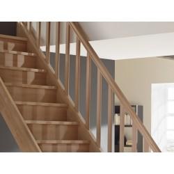 Escalier en bois Savoy: 1/4 tournant, contremarches [SY6]