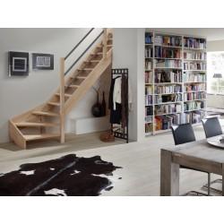 Escalier en bois Savoy: 1/4 tournant rampe [SY7]